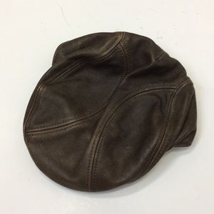 Wilson's Leather newsboy leather cap small men's